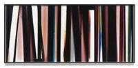 ra4 contact print [black curl (ymc/six magnet: los angeles, california, december 18th 2013, fuji color crystal archive super type c, em. no. 101-007, 43513), kreonite km iv 5225 ra4 color processor, ser. no. 00092174] by walead beshty